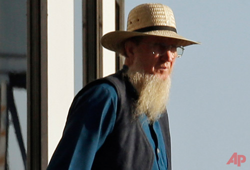 An Amish man leaves Court House in Cleveland Sept. 12, 2012 - PhotoAP Mark Duncan