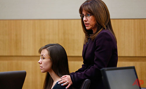 Jodi Arias Jennifer Wilmott May 21, 2013 Photo / AP - The Arizona Republic, Rob Schumacher - Pool