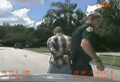 George Zimmerman Domestic Violence detention - Dash Cam Video Screenshot