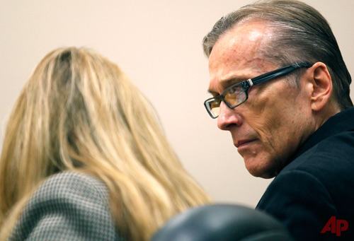 Martin MacNeill, right, speaks with his attorney Susanne Gustin during his trial in Judge Derek Pullan's 4th District Court in Provo, Utah, Tuesday, Oct. 22, 2013. Photo / AP - The Daily Herald,  Mark Johnston