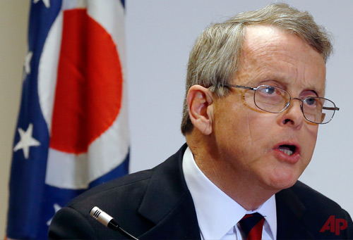 Ohio Attorney General Mike DeWine announces indictments against four additional people in relation to the 2012 rape of a high school student, on Monday, Nov. 25, 2013 in Steubenville, Ohio. Photo / AP - Keith Srakocic