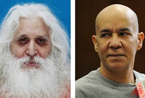 In this combination of two file photos, convicted child molester Jose Antonio Ramos, left, and Pedro Hernandez, right, who is accused of abducting and killing six-year-old Etan Patz in 1979 are shown. Hernandez could not have murdered Patz, his defense has said. He is mentally ill, and that's why he falsely confessed to choking the boy in the basement of the convenience store where he worked. And another man long suspected in the crime is the true killer - there was just not enough evidence to try him, the defense argues. Testimony about Ramos, whose shadow has loomed large over the ongoing trial, is expected this week. (AP Photo/File)