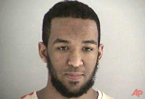 This undated file photo provided by the Butler County Jail in Hamilton, Ohio, shows Munir Abdulkader of West Chester Township. Munir Abdulkader is scheduled to be sentenced Wednesday, Nov. 23, 2016, for plotting attacks against a U.S. military official and a police station. (Butler County Jail via AP, File)