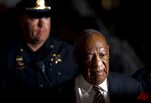 Bill Cosby leaves the Montgomery County Courthouse during his sexual assault trial, Wednesday, June 14, 2017, in Norristown, Pa. (AP Photo/Matt Slocum)