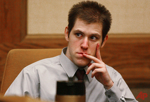 In this Thursday March 29, 2007, file photo, William Morva watches as prospective jury members are interviewed to serve in his attempted robbery trial in Montgomery County Circuit Court in Christiansburg, Va. Morva is scheduled to receive a lethal injection Thursday, July 6, 2017, for the killings of a hospital security guard and a sheriff's deputy in 2006. Morva's attorneys and mental health advocates are calling on Virginia Gov. Terry McAuliffe to spare his life. (Matt Gentry/The Roanoke Times via AP, File)